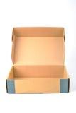 开放配件箱的纸盒 库存照片