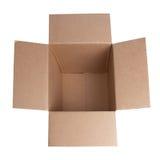 开放配件箱的纸盒 免版税库存图片