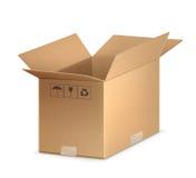 开放配件箱的纸盒 图库摄影