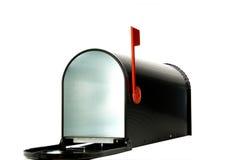 开放配件箱的邮件 库存图片