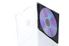 开放配件箱CD的光盘 图库摄影