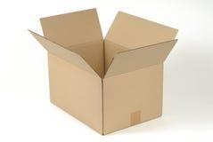 开放配件箱的纸板 库存照片