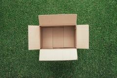 开放配件箱的纸板 图库摄影