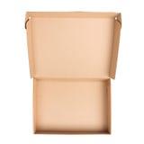 开放配件箱的纸板 免版税图库摄影