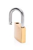 开放金属挂锁 库存照片