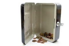 开放钱柜与变动 库存图片