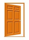 开放门的例证 库存图片