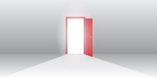 开放门的例证 库存照片