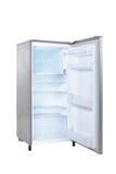 开放门的冰箱选拔 库存图片