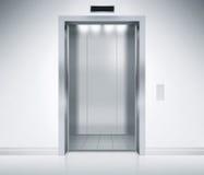 开放门的电梯 库存照片