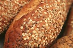 开放面包法国堆的市场 图库摄影