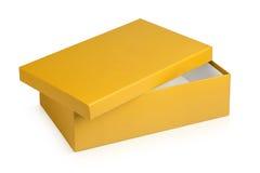 开放鞋盒的一半 免版税库存图片
