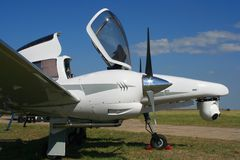 开放飞机的驾驶舱 免版税库存图片
