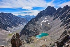 开放马戏的Mountain湖 库存图片
