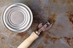 开放鱼能用手和叉子在桌上 免版税图库摄影