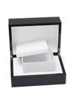开放黑匣子盒礼品困难的于 库存照片