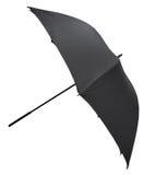 开放黑大伞侧视图  图库摄影