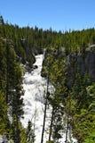 开普勒小瀑布是在Firehole河的瀑布 库存图片