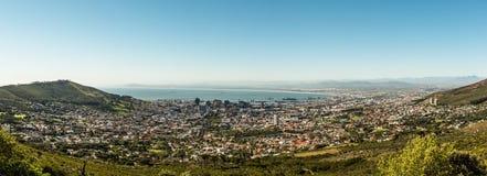 开普敦、南非& x28; 从桌mountain& x29的看法; 免版税库存照片