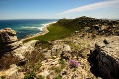 开普敦半岛海岸线的自然秀丽 图库摄影