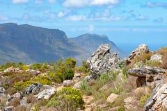 开普敦半岛从近的狮子拍摄了在开普敦,南非朝向 免版税库存照片