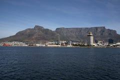 开普敦南非桌山和港  库存图片