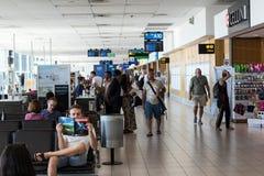开普敦国际机场地方离开终端 免版税库存图片