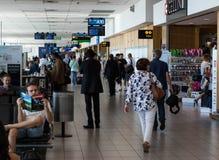 开普敦国际机场地方离开终端 免版税图库摄影