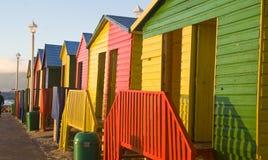 开普敦圣詹姆斯五颜六色的之家 免版税库存图片