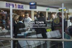 开普敦机场,南非 库存图片