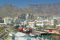 开普敦江边,南非地平线视图  免版税库存照片