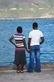 开普敦海岸的两个恋人 免版税图库摄影