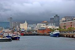 开普敦港口区域-江边 免版税库存照片