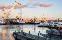 开普敦港在南非 库存照片