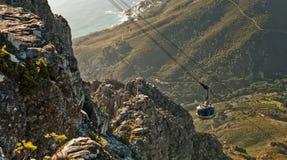 开普敦缆道南非 免版税图库摄影