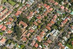 开普敦郊区鸟瞰图 免版税图库摄影