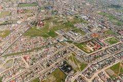 开普敦郊区鸟瞰图 库存图片