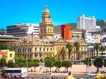 开普敦香港大会堂五颜六色的都市风景  免版税图库摄影
