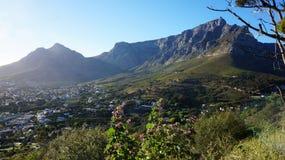 开普敦,南非看法  图库摄影