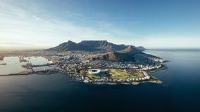 开普敦,南非空中沿海看法  免版税库存图片