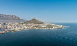 开普敦,南非鸟瞰图 免版税库存图片