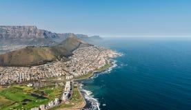 开普敦,南非鸟瞰图 图库摄影