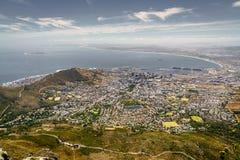 开普敦,南非,鸟瞰图 免版税图库摄影