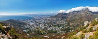 开普敦,南非整体鸟瞰图  库存图片