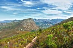 开普敦,南非整体鸟瞰图  库存照片