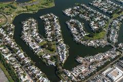开普敦& x28; suburb& x29;鸟瞰图 免版税库存图片