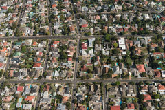 开普敦& x28; suburb& x29;鸟瞰图 库存照片