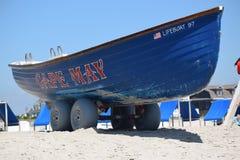 开普梅海滩救生艇 库存照片