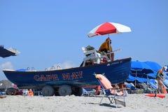 开普梅海滩救生艇 免版税库存图片
