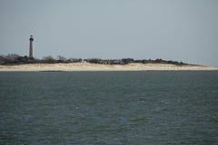 开普梅灯塔和沙丘在新泽西南部 库存图片